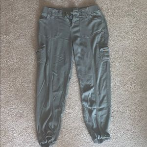 Stretchy Olive Green Cargo Pants